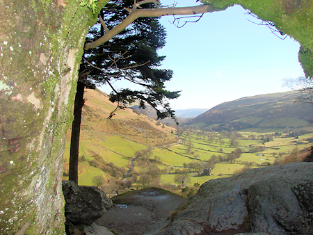 Looking down from the top of Pistyll Rhaeadr